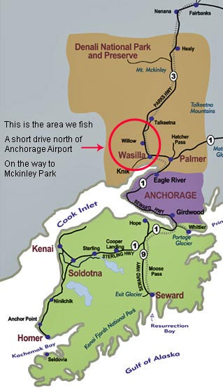 Driving Directions to Alaska Fishing Guides - iFishAlaska Guide Service
