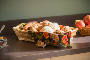 Continental Breakfast Served Daily at Harvest Lodge B&B