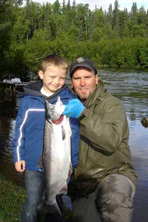 Salmon Fishing Pictures with iFishAlaska Guide Service